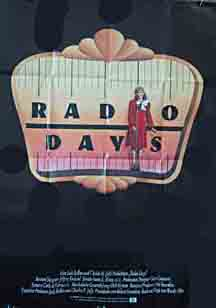 Radio Days USA movie poster
